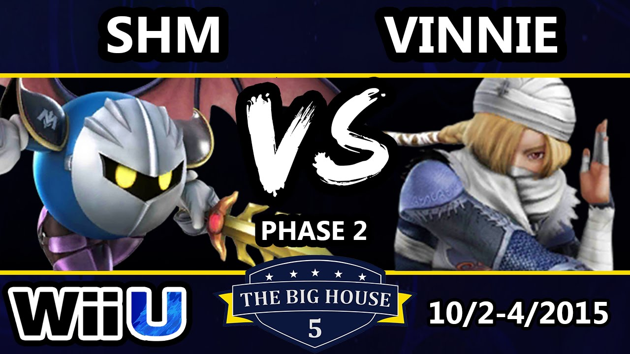TBH5 - SHM (Metaknight) Vs. iQHQ | Vinnie (Sheik) SSB4 Phase 2 - Smash Wii U - Smash 4