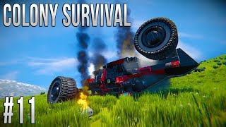 Space Engineers - Colony Survival Ep #11 - ROVER DESTRUCTION!