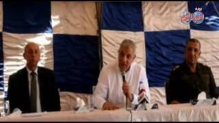 « محلب » يتفقد بحيرة ناصر ويلتقى بالمسئولين  بأسوان