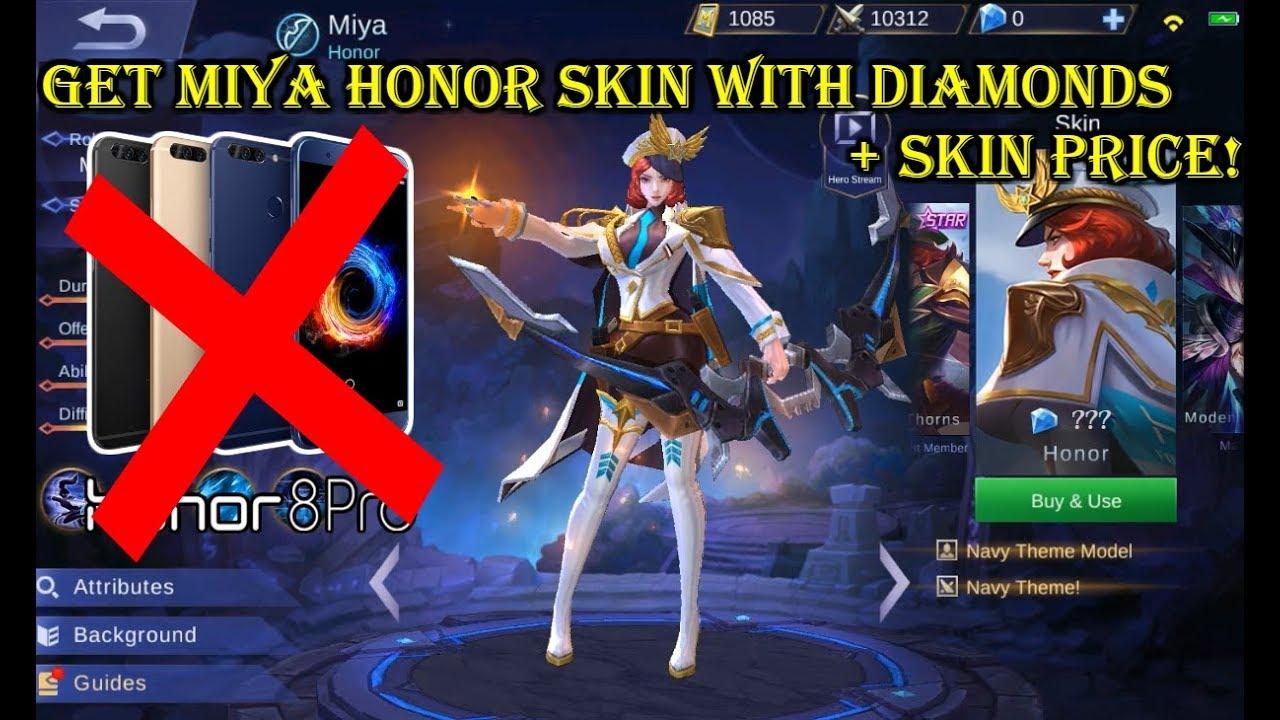 mobile legend miya skin honor