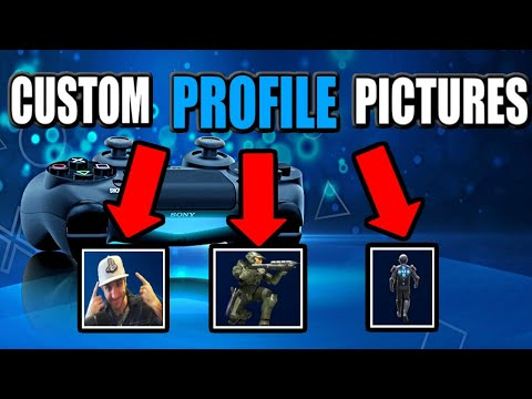 How To Change Profile Picture On PS4 With A CUSTOM IMAGE!