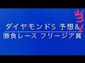 【競馬予想】 ダイヤモンドS 予想&勝負レース フリージア賞 予想