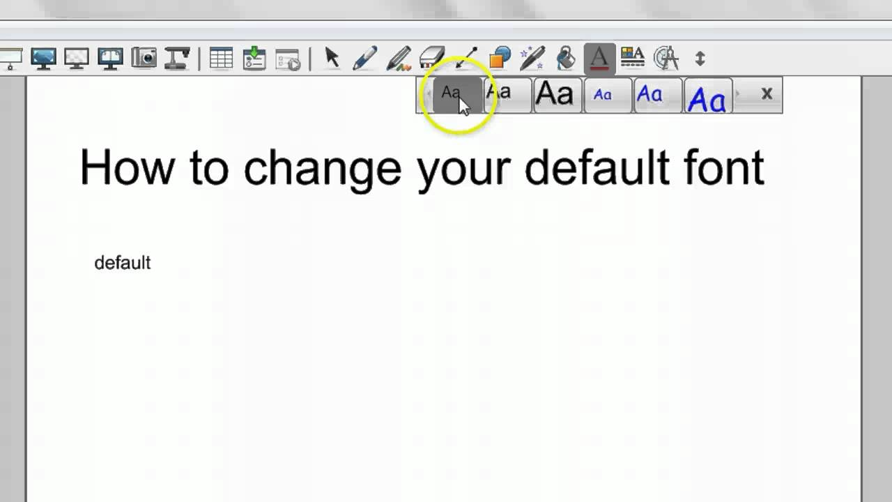 Changing the Default Font in Notebook