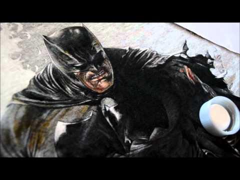 Making of pintura da estampa Batman- The Dark Knight