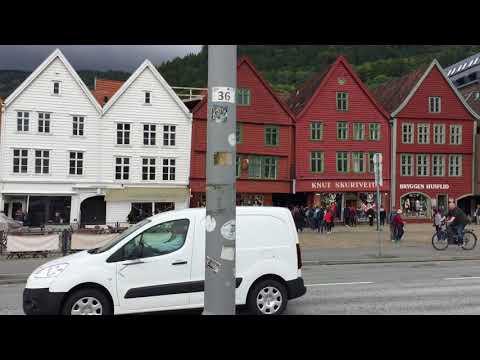 Bryggen and Bergen Harbor - August 2017