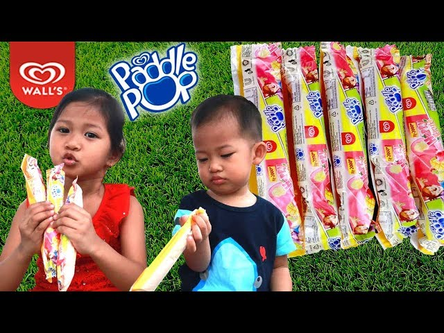 Es Krim Paddle Pop Happy Fruit???? Es Krim Walls Rasa Buah Strawberry & Mangga | Paddle Pop Terbaru