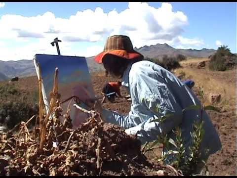 Artist's Diary Painting in Peru. The UN Year of the Potato. Artist in Residence John Dyer. CIP.