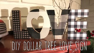DIY Dollar Tree Love Sign (I know, I know!)