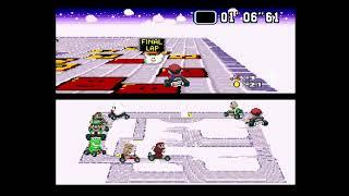 Super Mario Kart R (SNES) - 01 - Mushroom Cup (50cc, 1st Place)