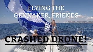 Ep 9. Flying the gennaker, friends and crashed drone (Sailing Susan Ann II)