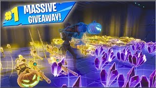 LIVE MASSIVE 130/106 Gun GIVEAWAY Fortnite Save the world