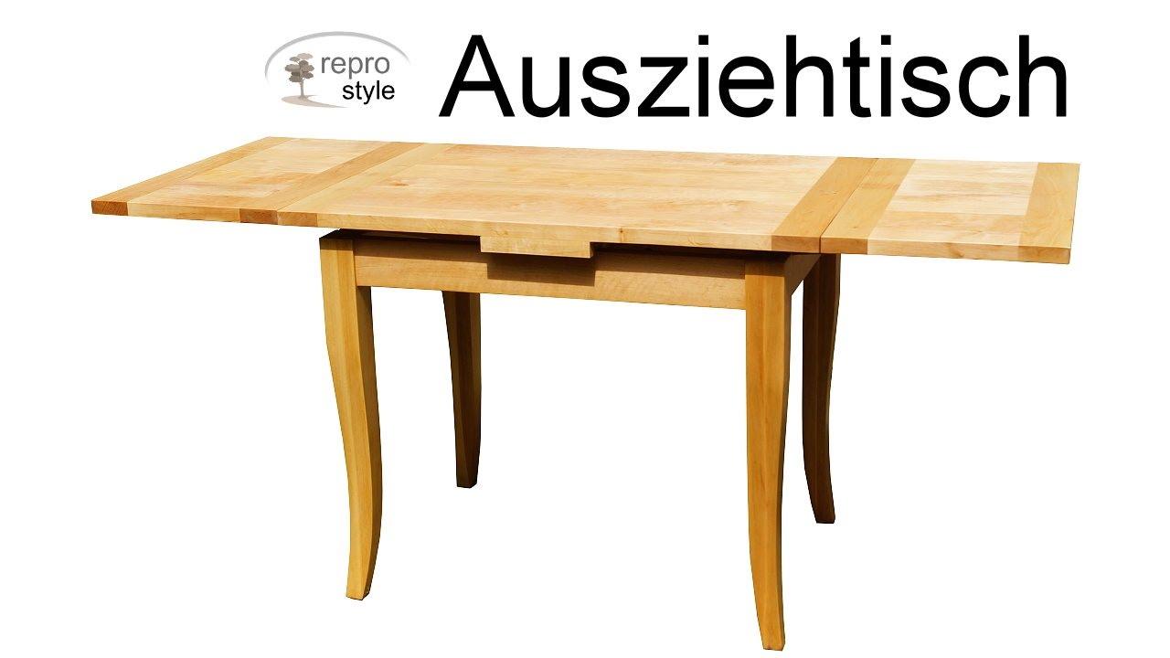 Gut gemocht Ausziehtisch Massivholz reprostyle - YouTube CC99