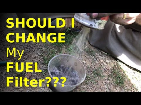 how to VERIFY your fuel filter is the problem  (don't just blindly replace it)