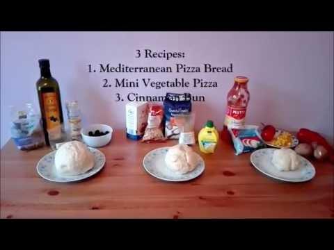 DIY: Three Different Yeast Dough Recipes (Pizza Bread, Vegan Pizza, Cinnamon Buns)