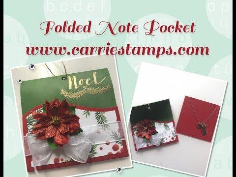 Folded Note Pocket