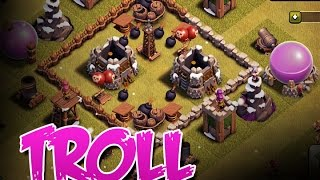 CLASH OF CLANS :: TROLL BASES :: FREE GEMS