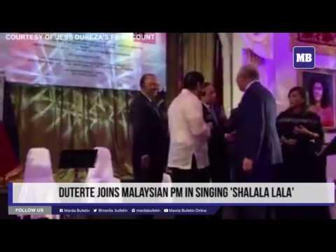 Duterte joins Malaysian PM in singing 'Shalala lala'