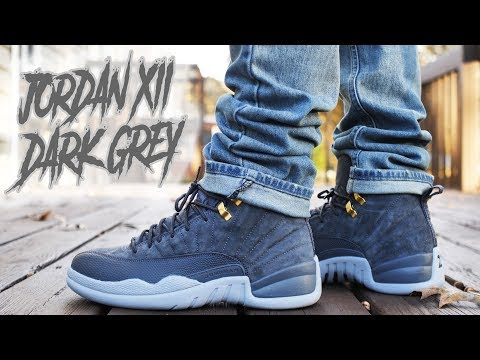 "JORDAN 12 ""DARK GREY"" REVIEW AND ON FOOT !!!"