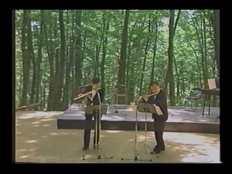W.F.Bach: Duet for Two Flutes (Kazumi Sato with Takashi Tamura)