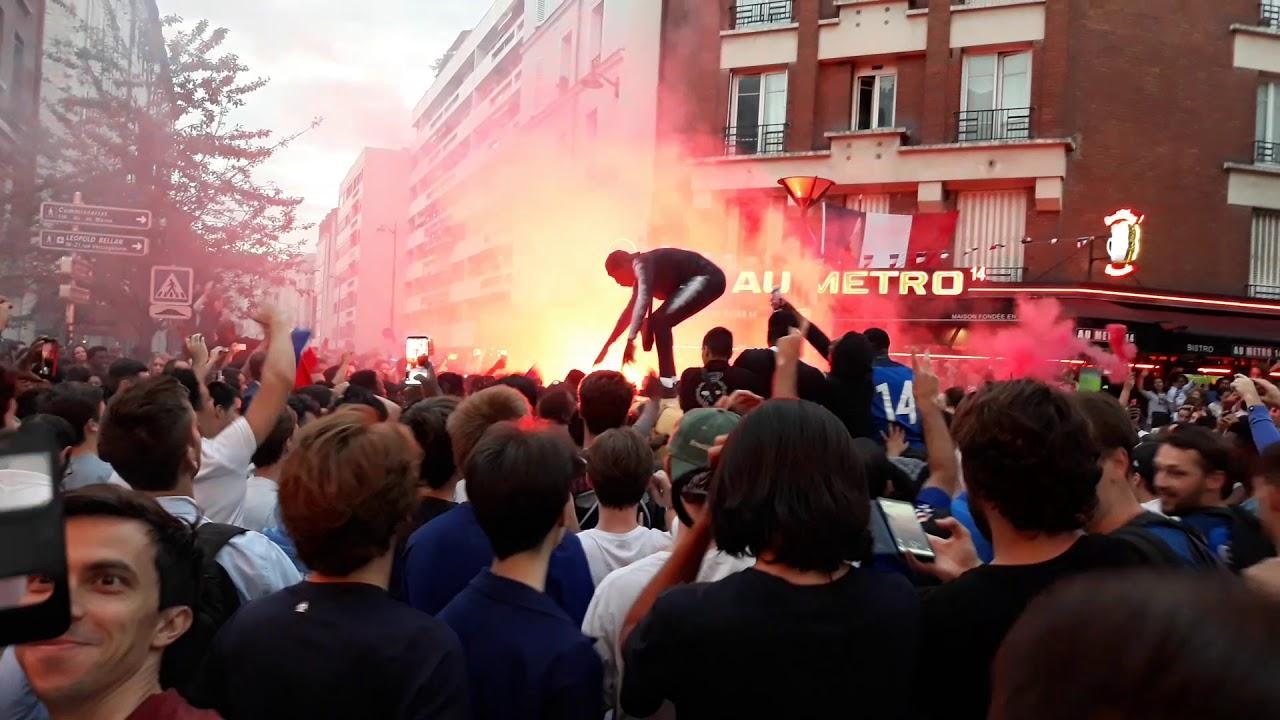 Moja relacja na żywo z Paryża. Niewiarygodna eksplozja kibiców po meczu Francja - Belgia