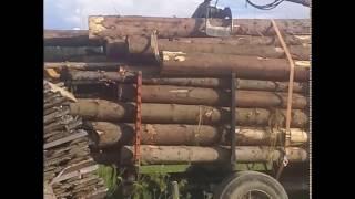Prezentacja przyczepy do drewna z hds &(Przewóz drewna)