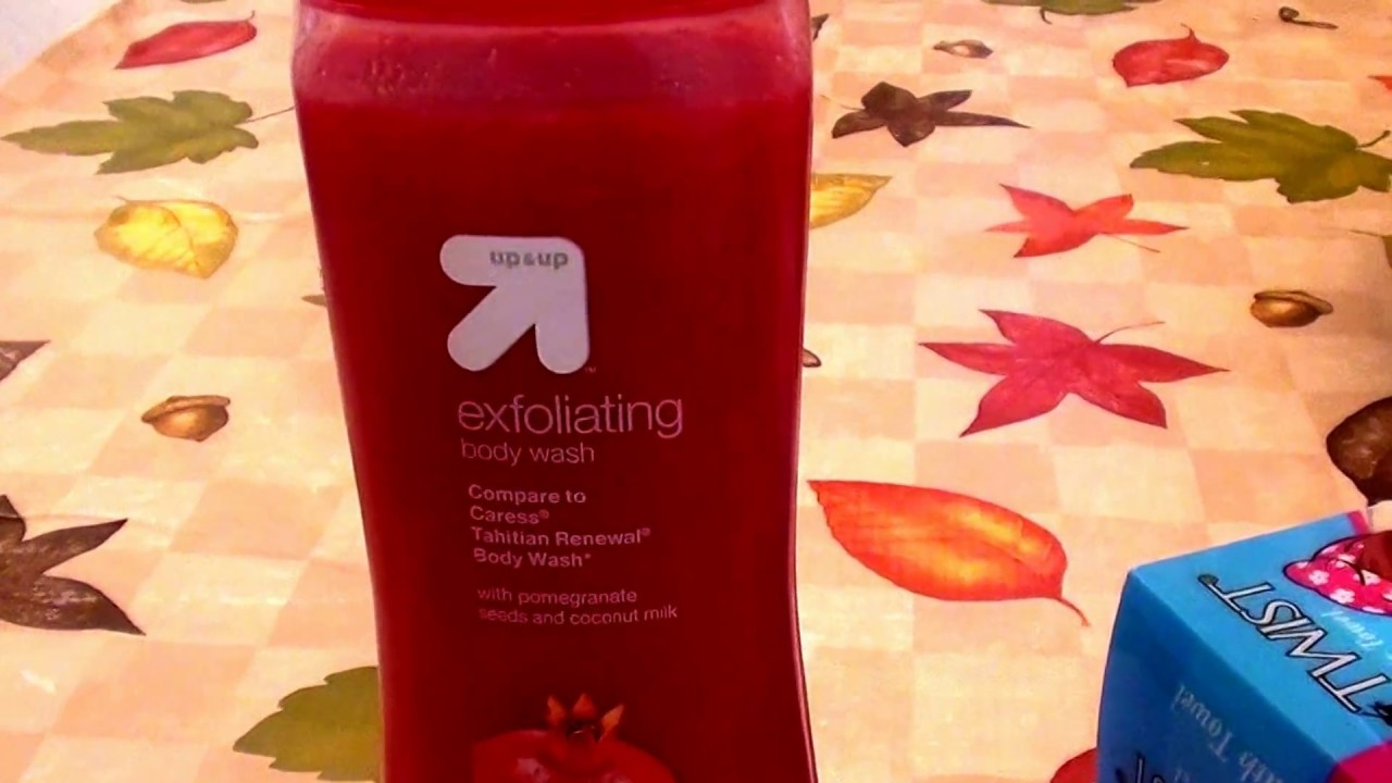 Target Up Up Exfoliating Body Wash Pomegranate Seeds Review