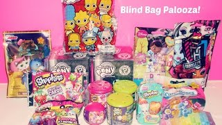 BLIND BAG PALOOZA PART 1 | Shopkins, My Little Pony, The Simpsons, Monster High, etc!