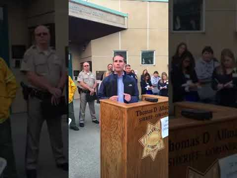 Mendocino County Sheriff's Emergency Fire Press Conference