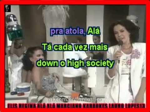 VIDEO KARAOKE ELIS REGINA ALÔ ALÔ MARCIANO