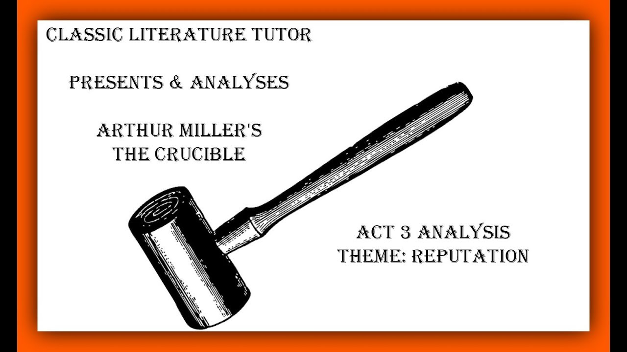 an analysis of the symbolism of the title of the play the crucible Arthur miller's allegorical play, the crucible, was written in 1956 about the historic witch trials of salem, massachusetts the crucible shows how fear can inspire hysteria, intolerance, and paranoia which mirrored what was happening in america in the 1950s when a different kind of witch hunt was.