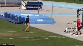 Icahn Stadium 2015 13 & 14 boys shot putt Mihael Fullman