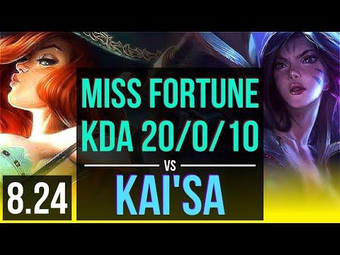 MISS FORTUNE & Thresh Vs KAI'SA & Sona (ADC) | KDA 20/0/10, Legendary | BR Diamond | V8.24