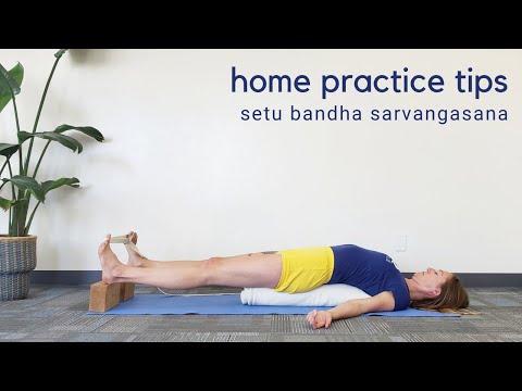Home Practice Tips: Setu Bandha Sarvangasana (with homemade bolster)