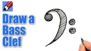 how to draw a bass clef in music
