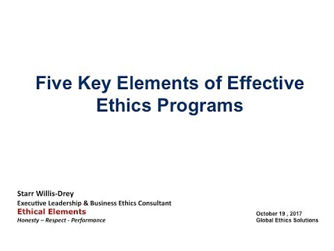 Five Key Elements of an Effective Ethics Program