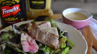Spicy Honey Dijon Dressing With Pan Seared Tuna Salad #frenchsmixology