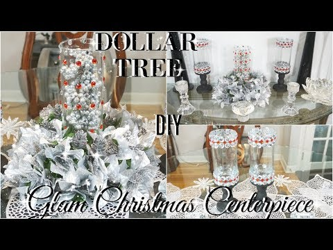 DIY DOLLAR TREE GLAM CENTERPIECE | DIY DOLLAR STORE BLING CHRISTMAS DECOR | DIY HOME DECOR