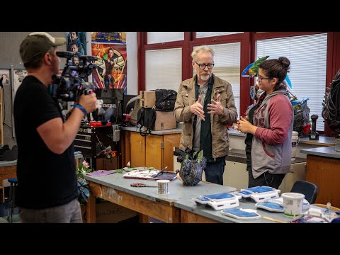 Adam Savage Checks in With North Bergen Student Cosplayers