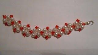 БРАСЛЕТ ИЗ БИСЕРА И БУСИН К ВАШЕМУ НАРЯДУ/ Bracelet with beads to your outfit
