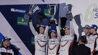 Triple  Porsche at the FIA WEC 6h of Shanghai For the third time in a row Porsche wins the manufacturers and drivers championship of the FIA WEC 2017...