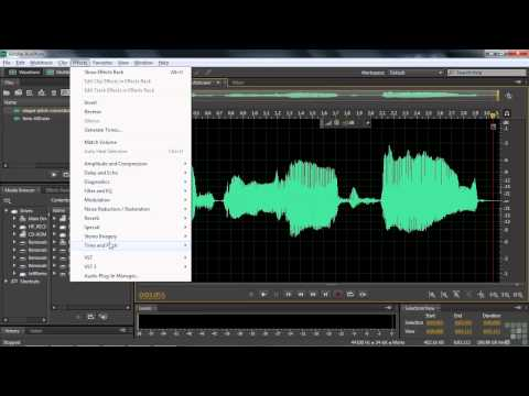 Adobe Audition CS6 Tutorial | How to Correct Pitch | InfiniteSkills