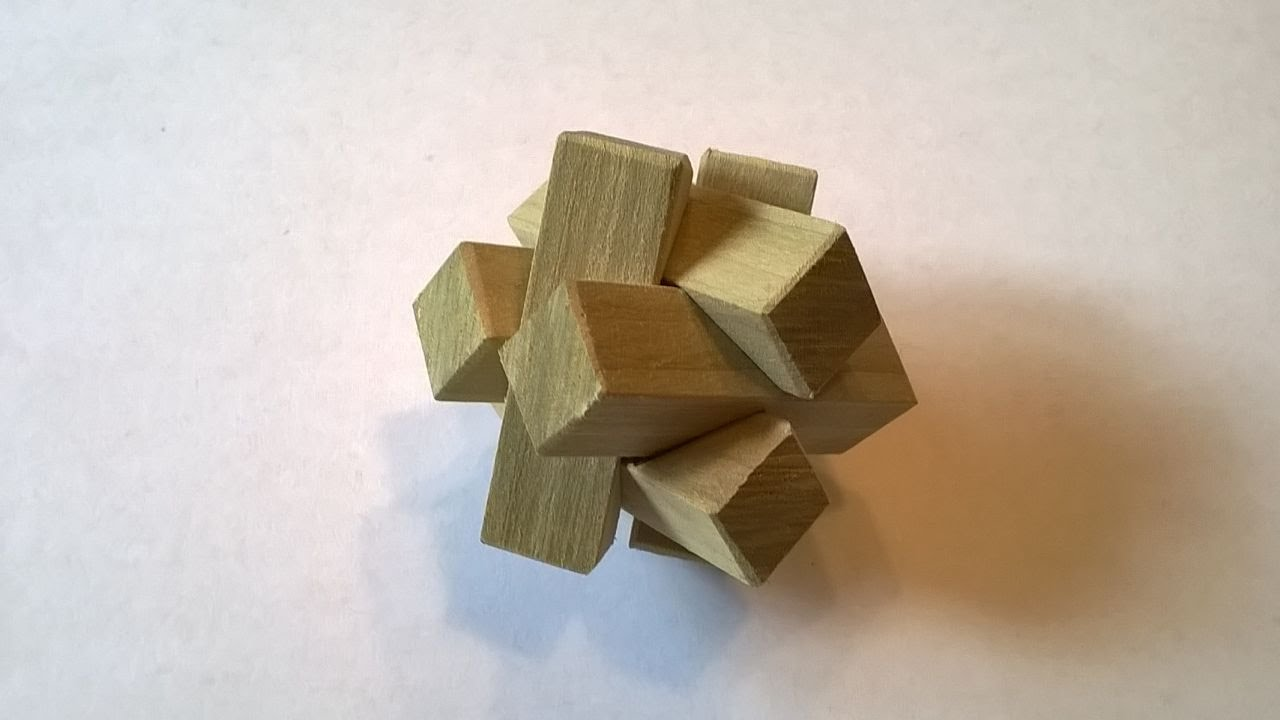 How to Make a 6 Piece Burr Puzzle With Hand Tools: 6 Steps