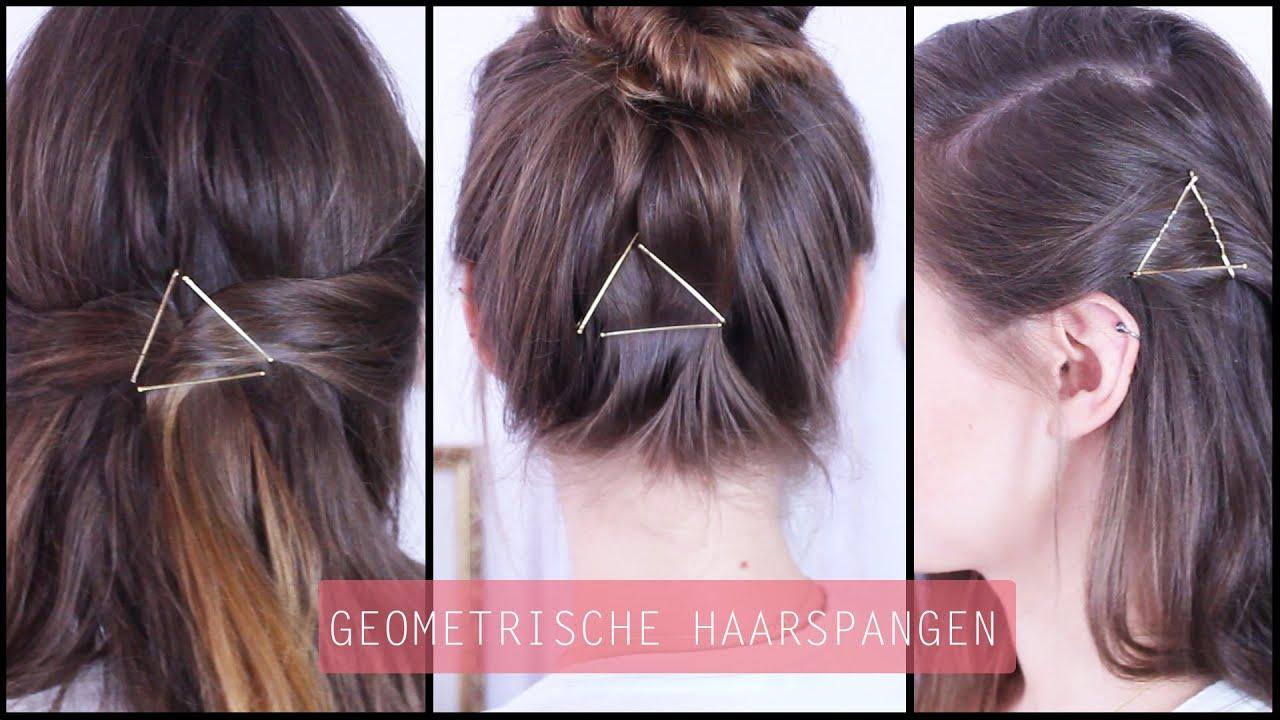 Haarspangen Geometrie Haarschmuck Frisuren Freitag