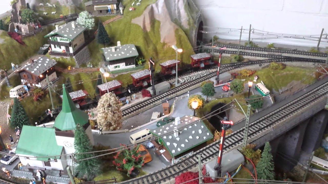 Silvretta Märklin HO Eisenbahn Modellbahn M Gleis - YouTube