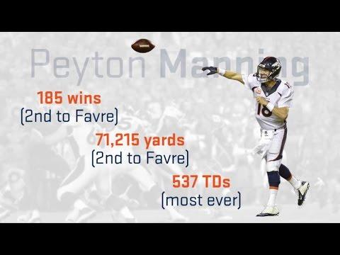 Peyton Manning vs. HOF Quarterbacks: Final Season Analysis   NFL Infographic