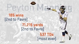 Peyton Manning vs. HOF Quarterbacks: Final Season Analysis | NFL Infographic