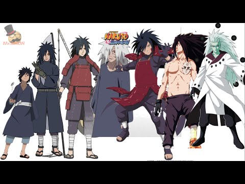 Naruto characters: Uchiha Madara's Evolution: Madara Uchiha (うちはマダラ, Uchiha Madara) was a legendary leader of the Uchiha clan. He founded Konohagakure alongside his rival, Hashirama Senju, with the intention of beginning an era of peace. When the two couldn't agree on how to achieve that peace, they fought for control of the village, a conflict that ended in Madara's death. He rewrote his death and went into hiding to work on his plans. Unable to complete it in his natural life, he entrusted his knowledge and plans to Obito Uchiha shortly before his actual death. Years later, Madara would be revived, only to see his plans foiled before dying one last time.