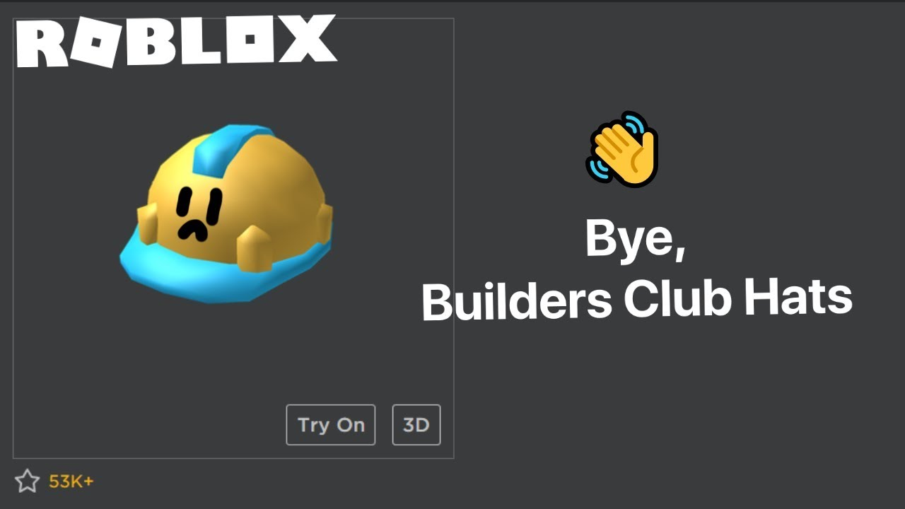 Builder Club Hats Removed Builders Club Being Replaced With Roblox Premium Youtube