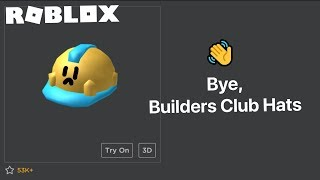 Builder Club Hats Removed - Builders Club being replaced with Roblox Premium?