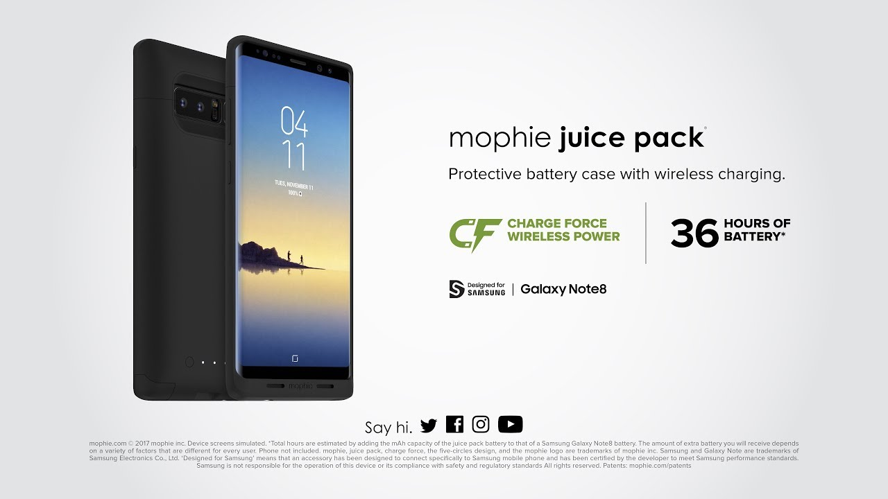 new arrival 8c037 8976e mophie juice pack for Samsung Galaxy Note8